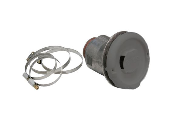 Alde Side Wall Flue Terminal c/w Hose Clips (Grey) product image