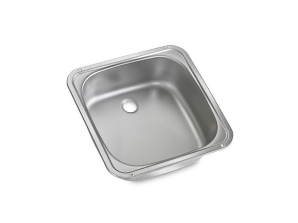 PT2 UN4 AH2 Square Kitchen Sink 370 x 370 mm  product image