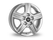 "15"" Borbet Silver Alloy Wheel Rim (Single)"