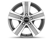 "15"" Hammer Grey Polished Alloy Wheel Rim Set of 4"