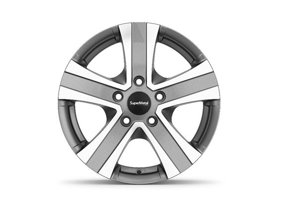 "15"" Hammer Grey Polished Alloy Wheel Rim Set of 4 product image"