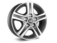 "15"" Borbet Grey Polished Alloy Wheel Rim Set of 4"