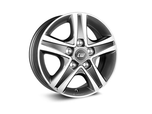 "15"" Borbet Grey Polished Alloy Wheel Rim Set of 4 product image"