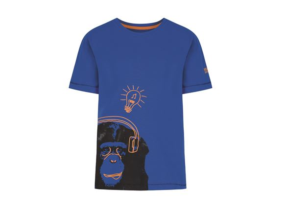 Regatta Bobbles II Kids T Shirt Blue Monkey product image