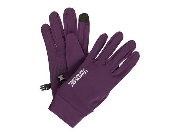Regatta Mens Touchtip Str Glove Blackberry Wine XL product image