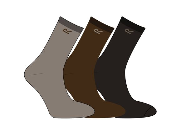 Regatta Mens 3 Socks Set Brown Marl  product image
