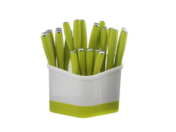 PRIMA 24 Piece Cutlery Set with Holder - Green product image