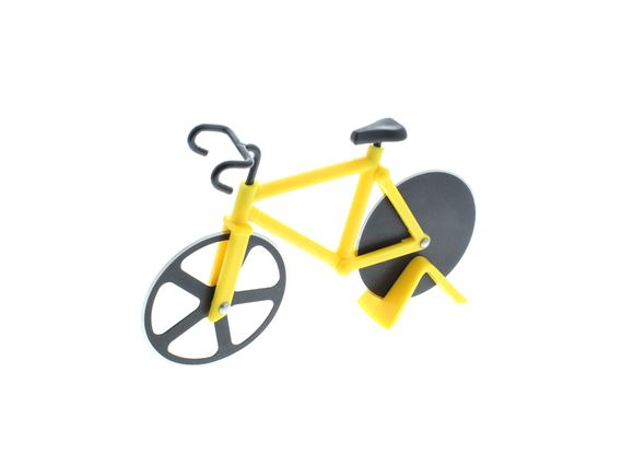 Bicycle Pizza Cutter - Yellow product image