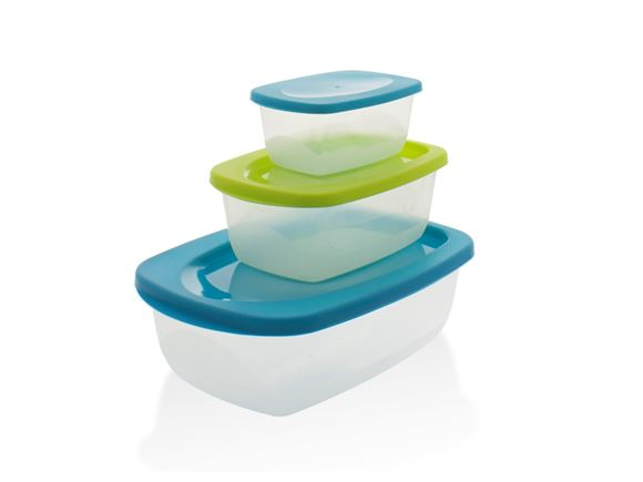 Set of 3 Compact Food Storage Containers with Lids product image