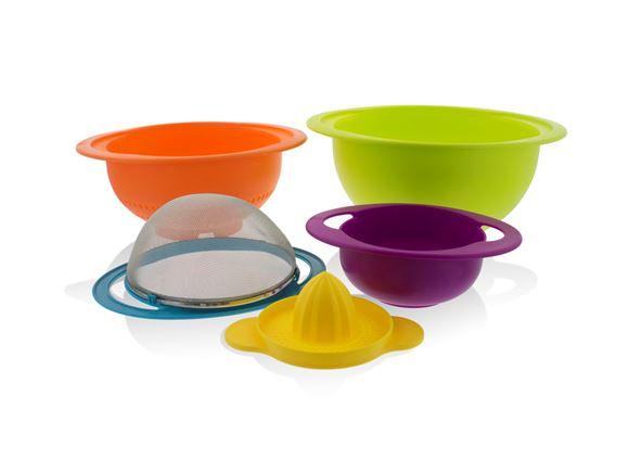 PRIMA 5pc Stackable Kitchen Bowl Set - Multicolour product image