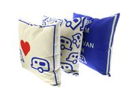 PRIMA 3pc Blue Scatter Cushion Set - Caravan