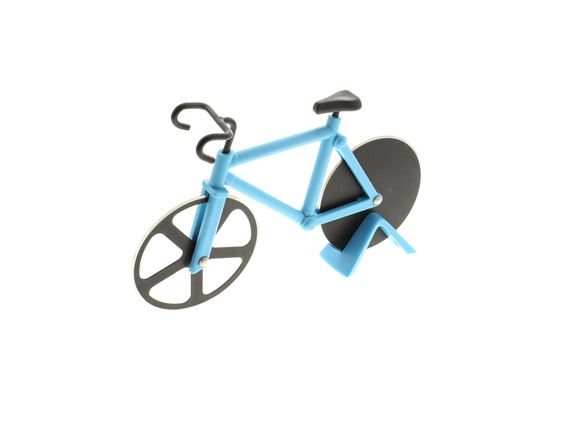 Bicycle Pizza Cutter - Blue product image