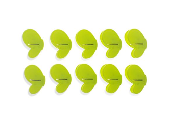 PRIMA 10pc Butterfly Clip Set - Green product image