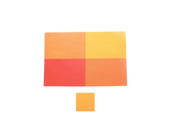PRIMA 12pc Placemat & Coaster Set - Orange product image