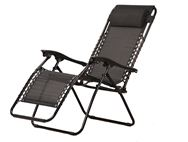 PRIMA Folding Recliner Camping Chair - Black
