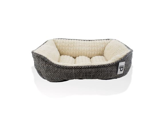 PRIMA Grey Cushioned Dog Bed Small 48x41x16cm product image