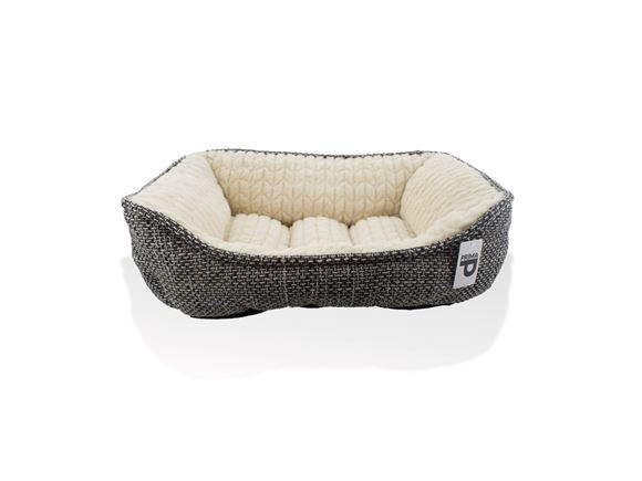 PRIMA Grey Cushioned Dog Bed Medium 62x53x24cm product image