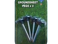 Metal Groundsheet Pegs x 4