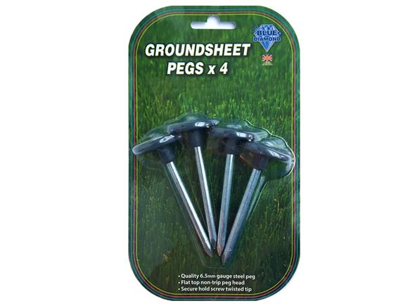 Metal Groundsheet Pegs x 4 product image