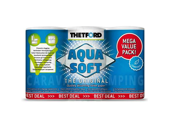 Thetford Aqua Soft Toilet Paper x6 Roll Value Pack product image
