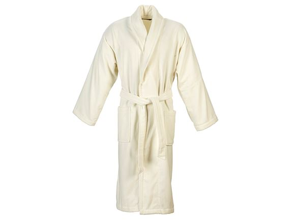 Christy Supreme Velour Bathrobe Size L - Almond product image