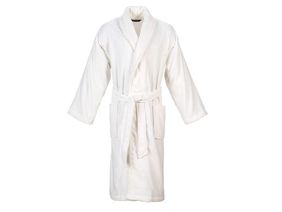 Christy Supreme Velour Bathrobe Size L - White product image