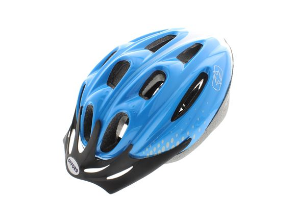 Oxford F15 Cycle Helmet Blue/White Large 58-61cm product image