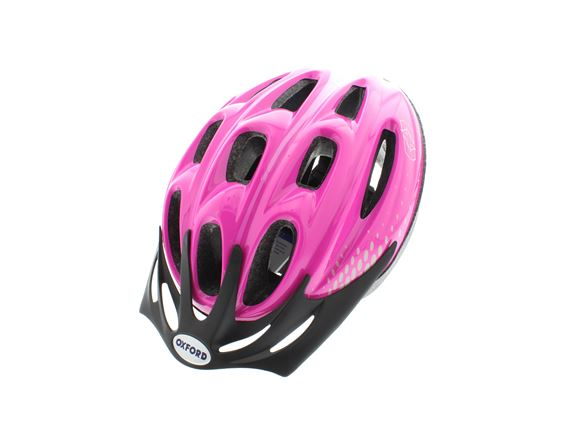 Oxford F15 Cycle Helmet Pink/White Large 58-61cm product image