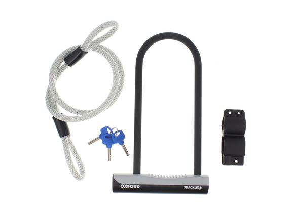 Oxford Cycle Duo Shackle Lock 180x320 w/ Cable product image