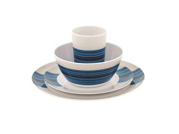 Outwell Blossom 16 Piece Dinner Set Columbine Blue product image