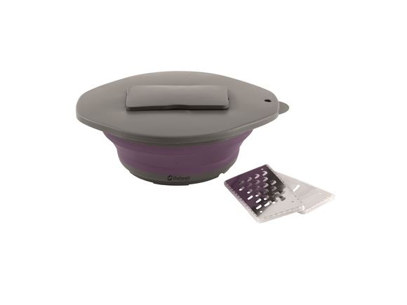 Outwell Collaps Bowl & Lid with Grater Rich Plum product image
