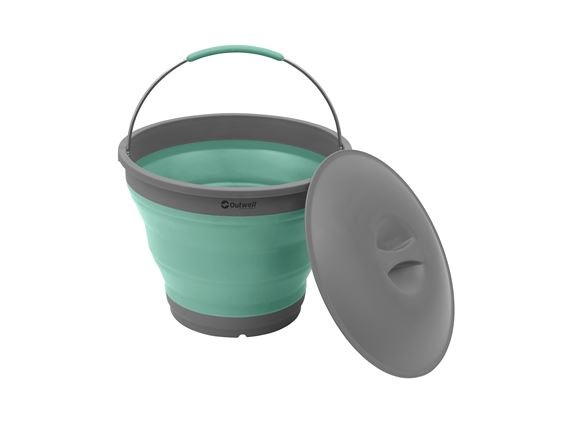 Outwell Collaps Bucket with Lid Turquoise Blue product image