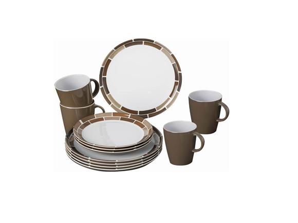 Brunner Chocolate Melamine Tableware Set product image