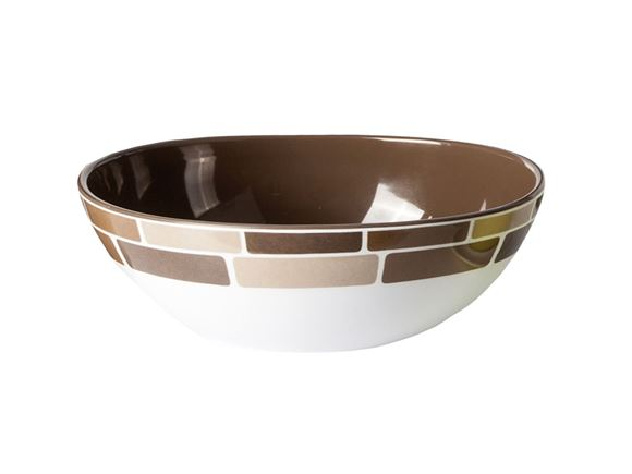 Brunner Brown Melamine Salad Bowl product image