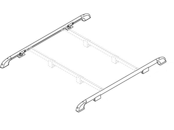 Fiamma Motorhome Roof Rail (Pair) product image
