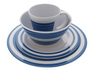 PRIMA Dorset Blue 16 Piece Melamine Dinner Set