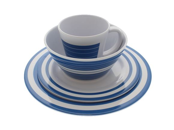 PRIMA Dorset Blue 16 Piece Melamine Dinner Set product image