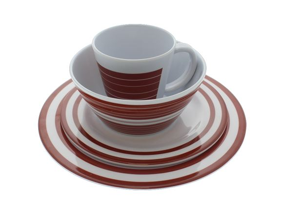PRIMA Dorset Terracotta 16pc Melamine Dinner Set product image