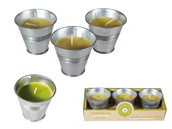 Citronella Candle in Zinc Pot - Set of 3 product image