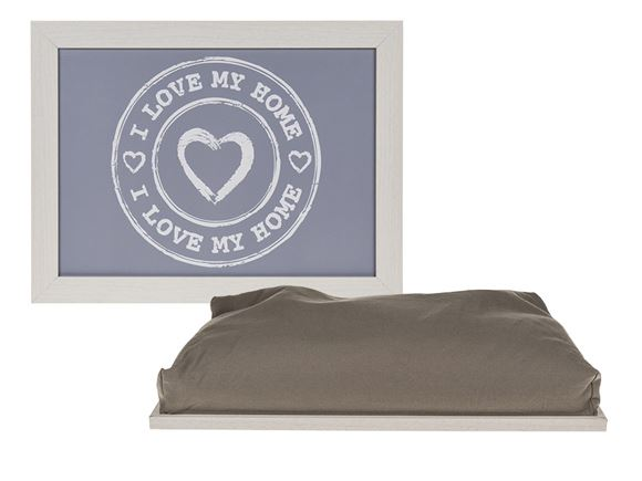 I Love My Home Cushion Lap Tray product image