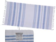 Fouta Beach Towel 90x180cm White/Sky Blue