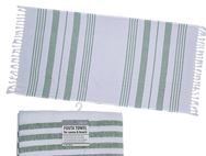 Fouta Beach Towel 90x180cm White/Mint Green
