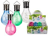 Solar Powered LED Coloured Plastic Hanging Light