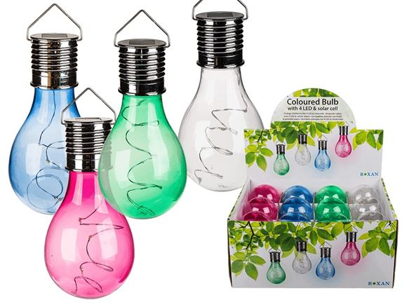 Solar Powered LED Coloured Plastic Hanging Light product image
