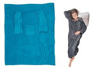 Comfort Blanket w/ Sleeves & Pockets - Blue