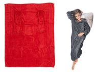 Comfort Blanket w/ Sleeves & Pockets - Red