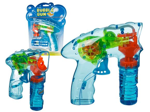 Plastic Bubble Gun w/ Light & 56ml Bubble Liquid product image