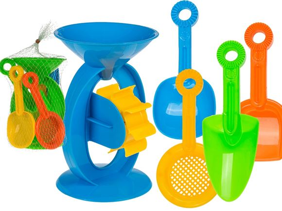 Sand Toy Set - Water Wheel, Shovels & Sieve product image