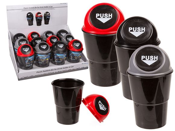 Plastic Cup Holder Rubbish Bin product image
