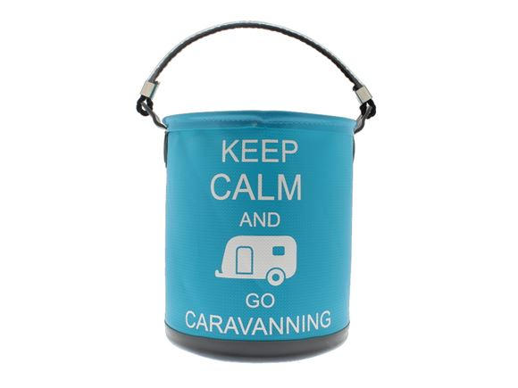 Colapz Bucket - Keep Calm & Go Caravanning - Blue product image